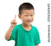 asian child giving thumb up.... | Shutterstock . vector #1056269645