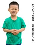 happy asian child smiling and... | Shutterstock . vector #1056269705