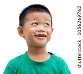 headshot of happy asian child... | Shutterstock . vector #1056269762
