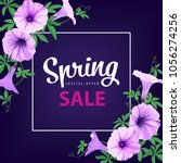 special offer spring sale with... | Shutterstock .eps vector #1056274256