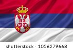 Serbia flag waving with the wind, 3D illustration.