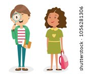 character of a person. an... | Shutterstock .eps vector #1056281306