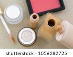 cosmetic makeup  liquid... | Shutterstock . vector #1056282725