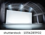 projection screen in art... | Shutterstock .eps vector #1056285932