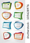 colorful template elements for... | Shutterstock .eps vector #105628976