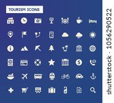 big tourism icon set | Shutterstock .eps vector #1056290522