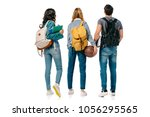 back view of multicultural... | Shutterstock . vector #1056295565