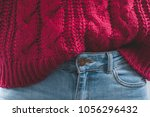 close up body part of woman... | Shutterstock . vector #1056296432