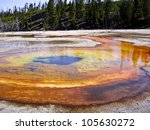 colorful geothermal pools in... | Shutterstock . vector #105630272