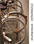 back wheels of bikes | Shutterstock . vector #1056306212