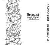 floral seamless vintage border. ... | Shutterstock .eps vector #1056306998