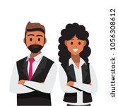 businessmen consulting ... | Shutterstock .eps vector #1056308612