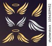 angel wings vector. bird wings... | Shutterstock .eps vector #1056309452