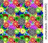 flat flower elements design.... | Shutterstock .eps vector #1056314492