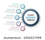 infographic template with five... | Shutterstock .eps vector #1056317498