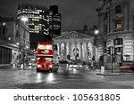 royal exchange london with red... | Shutterstock . vector #105631805