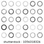vector doodle frames with ... | Shutterstock .eps vector #1056318326