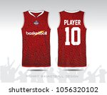 red and white layout basketball ... | Shutterstock .eps vector #1056320102