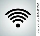 wi fi signal icon. vector wi fi ... | Shutterstock .eps vector #1056329006