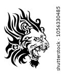 illustration of a fiery lion... | Shutterstock .eps vector #1056330485