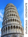 pisa tower isolated  italy. | Shutterstock . vector #1056334478