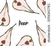 fruit. pattern. pear. | Shutterstock .eps vector #1056342782
