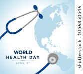 world health day banner with... | Shutterstock .eps vector #1056350546