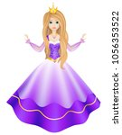 princess doll character in a... | Shutterstock .eps vector #1056353522