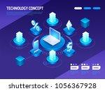 digital technology concept...