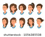 avatar collection. set of... | Shutterstock .eps vector #1056385538