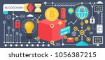 cryptocurrency bitcoin and... | Shutterstock .eps vector #1056387215