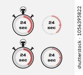 timer 24 seconds on gray... | Shutterstock .eps vector #1056395822