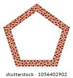 contour pentagon collage of...   Shutterstock .eps vector #1056402902