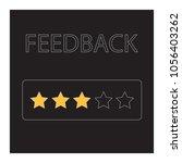 feedback concept  vector... | Shutterstock .eps vector #1056403262