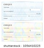 cheque  check template  ... | Shutterstock .eps vector #1056410225