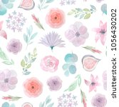 seamless pattern with hand... | Shutterstock . vector #1056430202