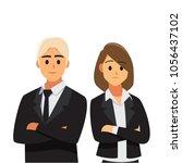 businessmen consulting ... | Shutterstock .eps vector #1056437102