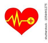vector heartbeat icon | Shutterstock .eps vector #1056441275
