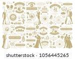 wedding vector design elements... | Shutterstock .eps vector #1056445265