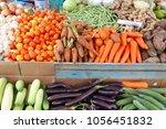 local vegetables market in el... | Shutterstock . vector #1056451832