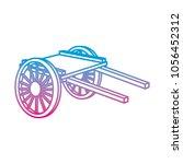 degraded line handcart... | Shutterstock .eps vector #1056452312