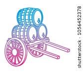 degraded line handcart... | Shutterstock .eps vector #1056452378