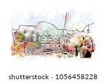 kaaba in masjid al haram in... | Shutterstock .eps vector #1056458228