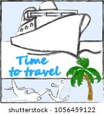time to travel.love travel... | Shutterstock .eps vector #1056459122