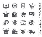 online shopping icon set   Shutterstock .eps vector #1056460538