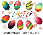 easter day poster and card whit ... | Shutterstock .eps vector #1056462518