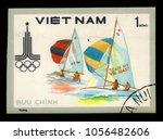 vietnam   circa 1980  a stamp... | Shutterstock . vector #1056482606