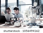 the work is almost done. waist... | Shutterstock . vector #1056494162