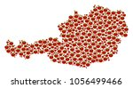 austria map mosaic of tomato...   Shutterstock .eps vector #1056499466