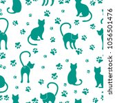 Seamless Pattern With Cats And...